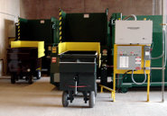 10 hp Auger Compactors w/ Cart Dumpers and custom carts