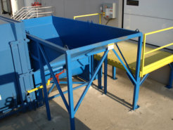 20 hp Auger Compactor with custom dock feed hopper